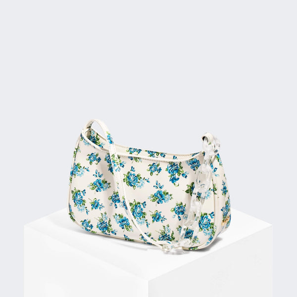 House Of Want NEWBIE Baguette Blue Floral - front