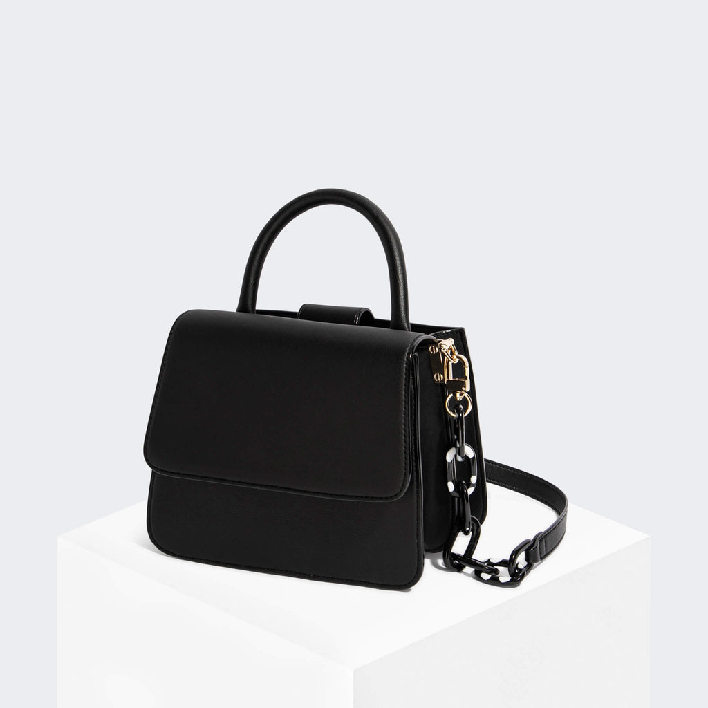 House Of Want NEWBIE Satchel Black Texture - front