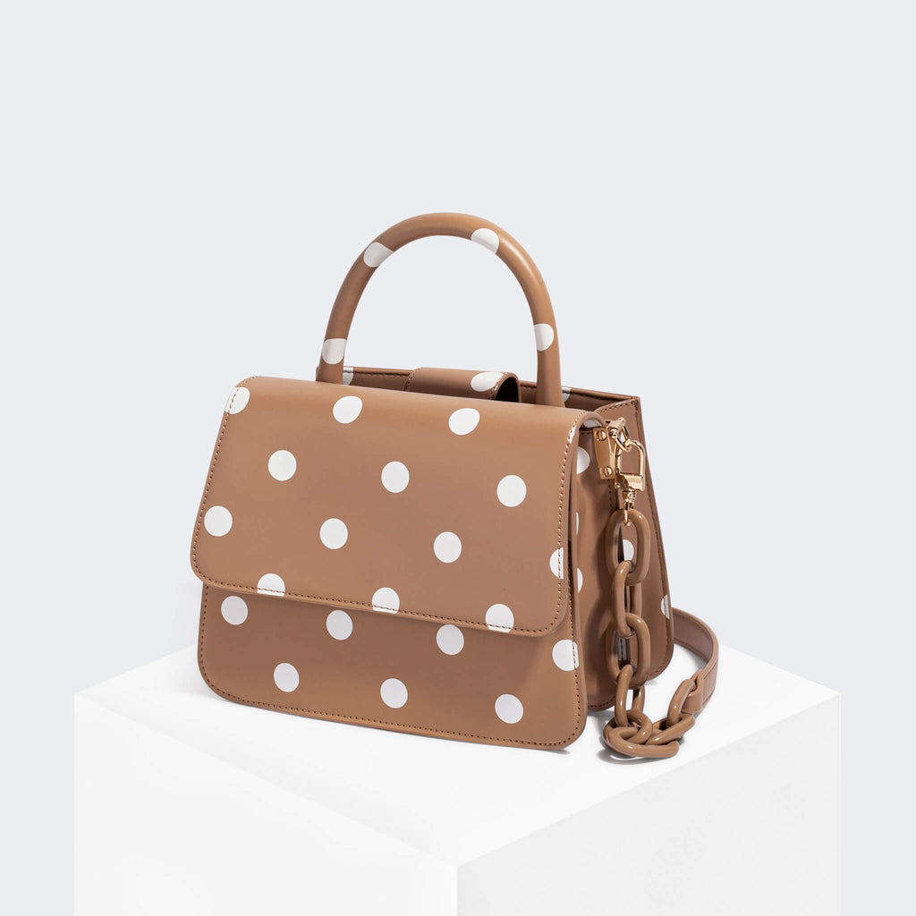 House Of Want NEWBIE Satchel Polka Dot - front