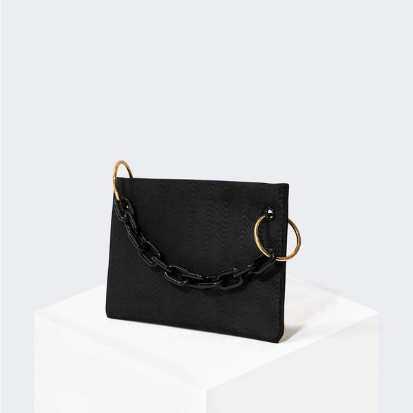 HOUSE OF WANT CHILL Clutch Black Moire - front