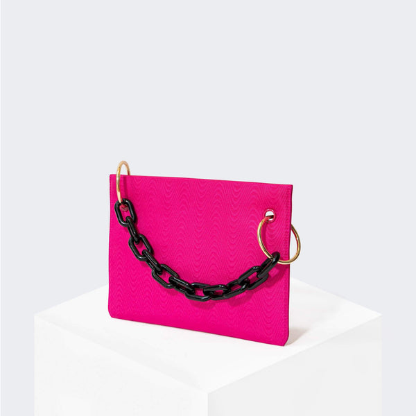 HOUSE OF WANT CHILL Clutch Fuchsia Moire - front