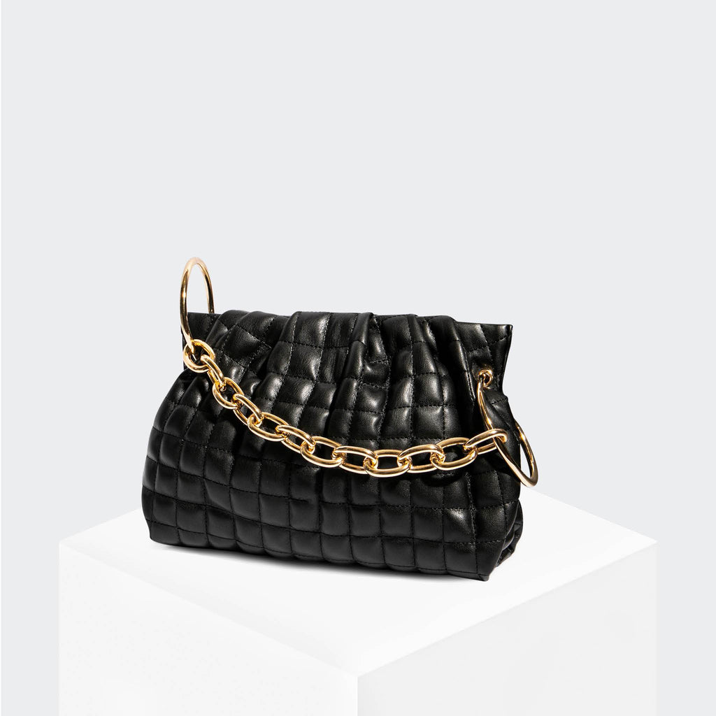 "House Of Want ""Chill"" Framed Clutch Black Quilted - front"