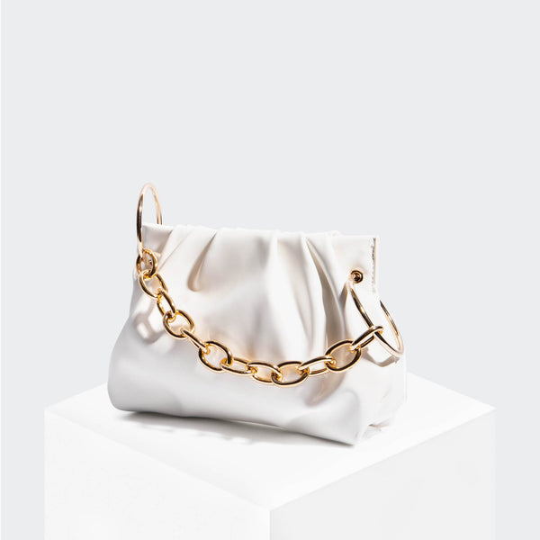 House Of Want CHILL Framed Clutch White Box Calf - front