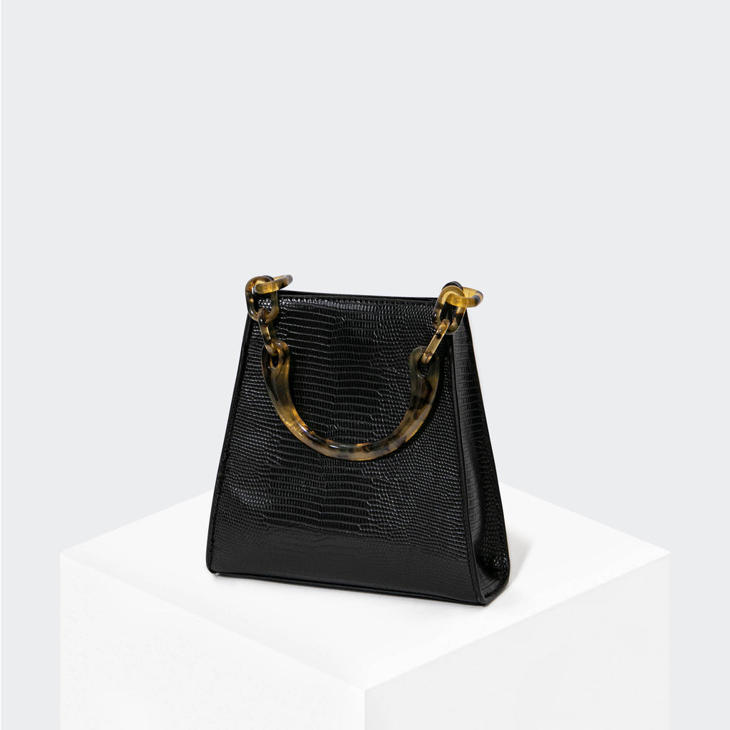 "HOUSE OF WANT ""Glow Up"" Mini Bucket Black Lizard - front"