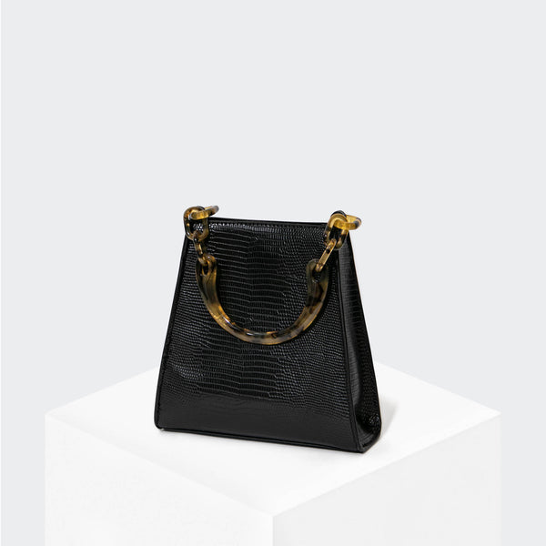 HOUSE OF WANT GLOW UP Mini Bucket Black Lizard - front