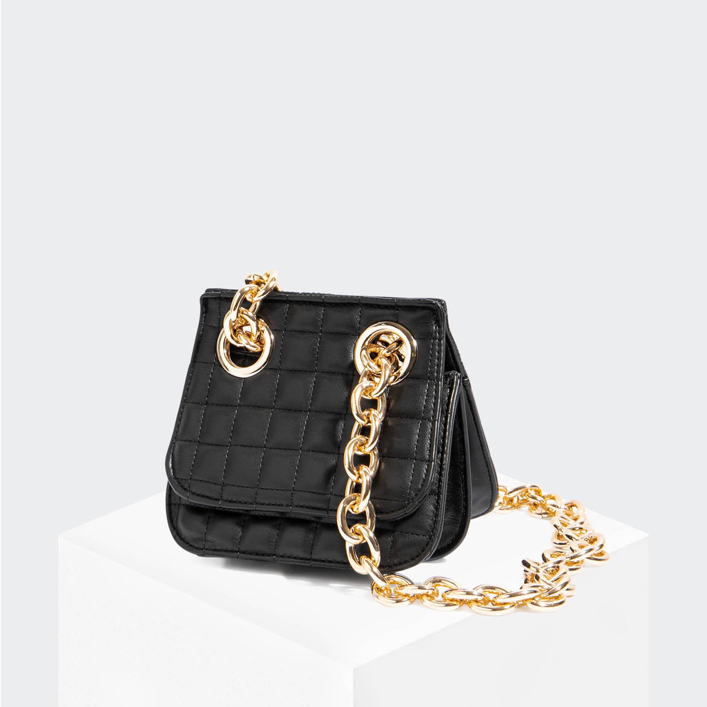 "House Of Want ""H.O.W."" We Are Original Shoulder Bag Black Quilted - front - front"