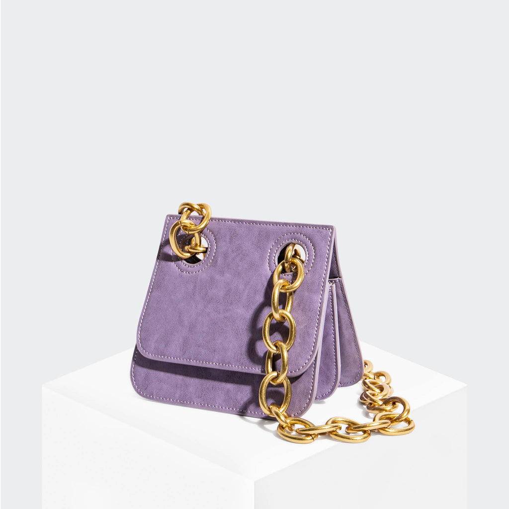 House Of Want HOW WE ARE ORIGINAL Shoulder Bag Lavender Glazed Calf - front