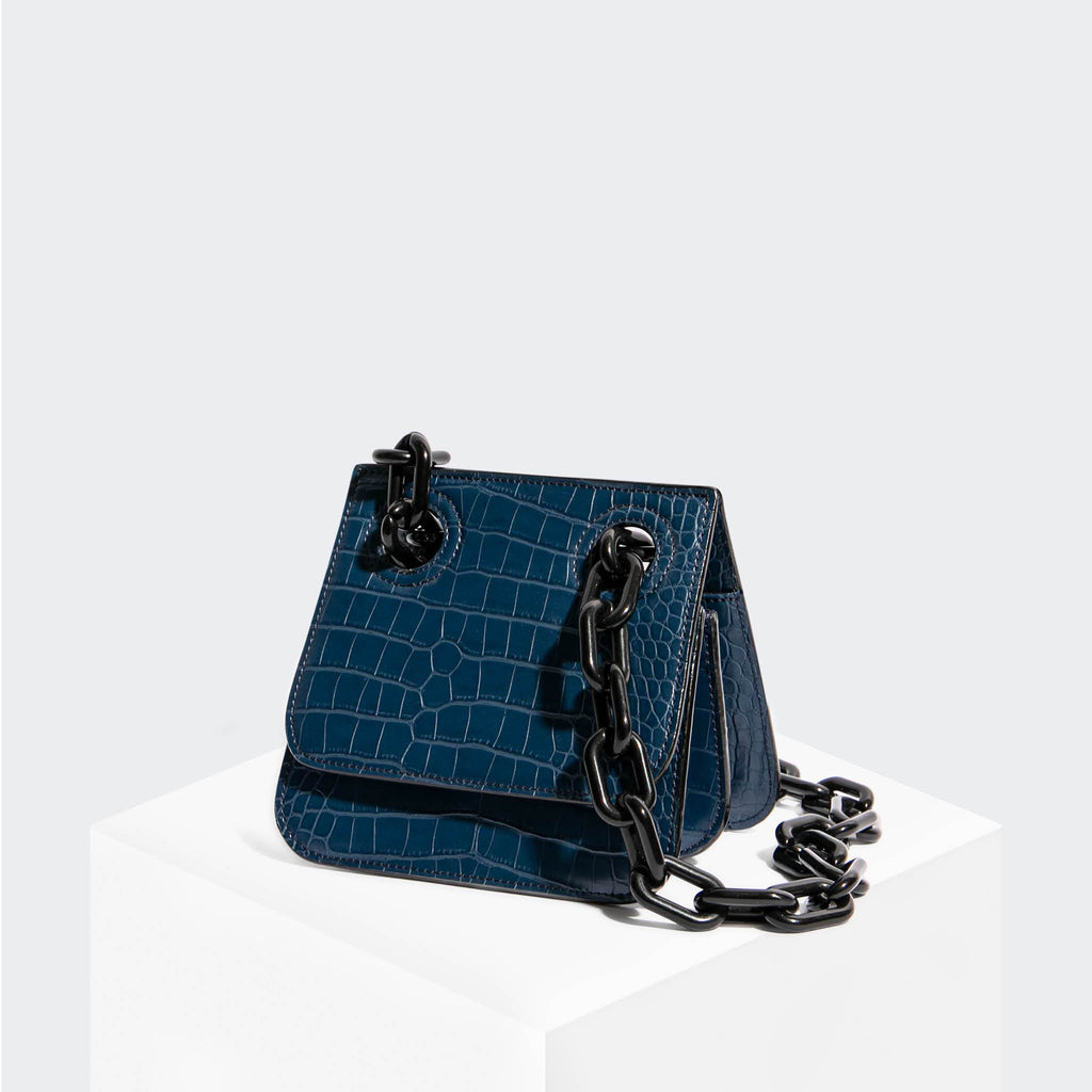 House Of Want HOW WE ARE ORIGINAL Shoulder Bag Navy Croco - front