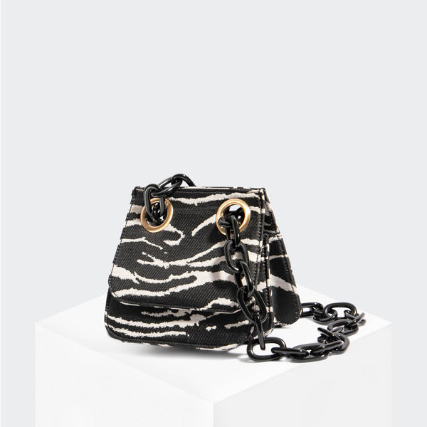 "House Of Want ""H.O.W."" We Are Original Shoulder Bag Zebra - front"