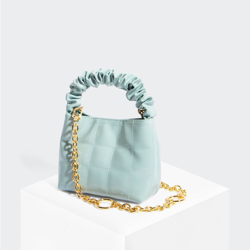 House Of Want HOW WE BRUNCH Mini Tote Ice Blue - front