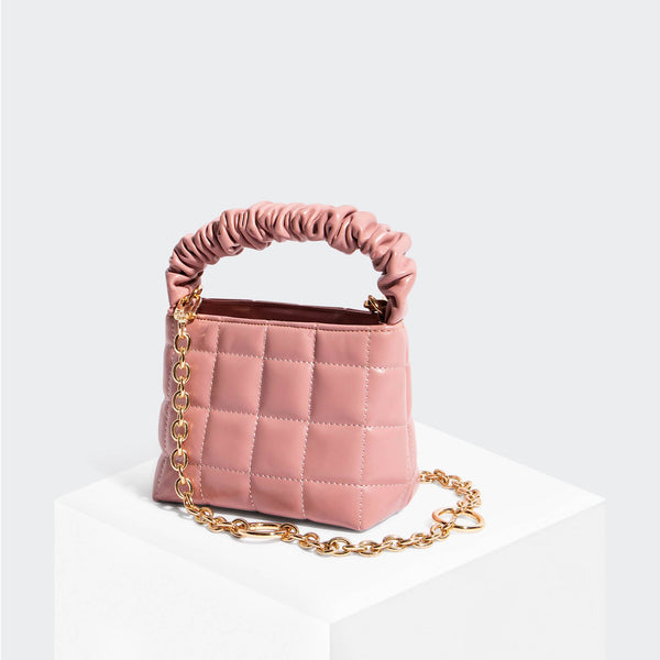 House Of Want HOW WE BRUNCH Mini Tote Pink - front
