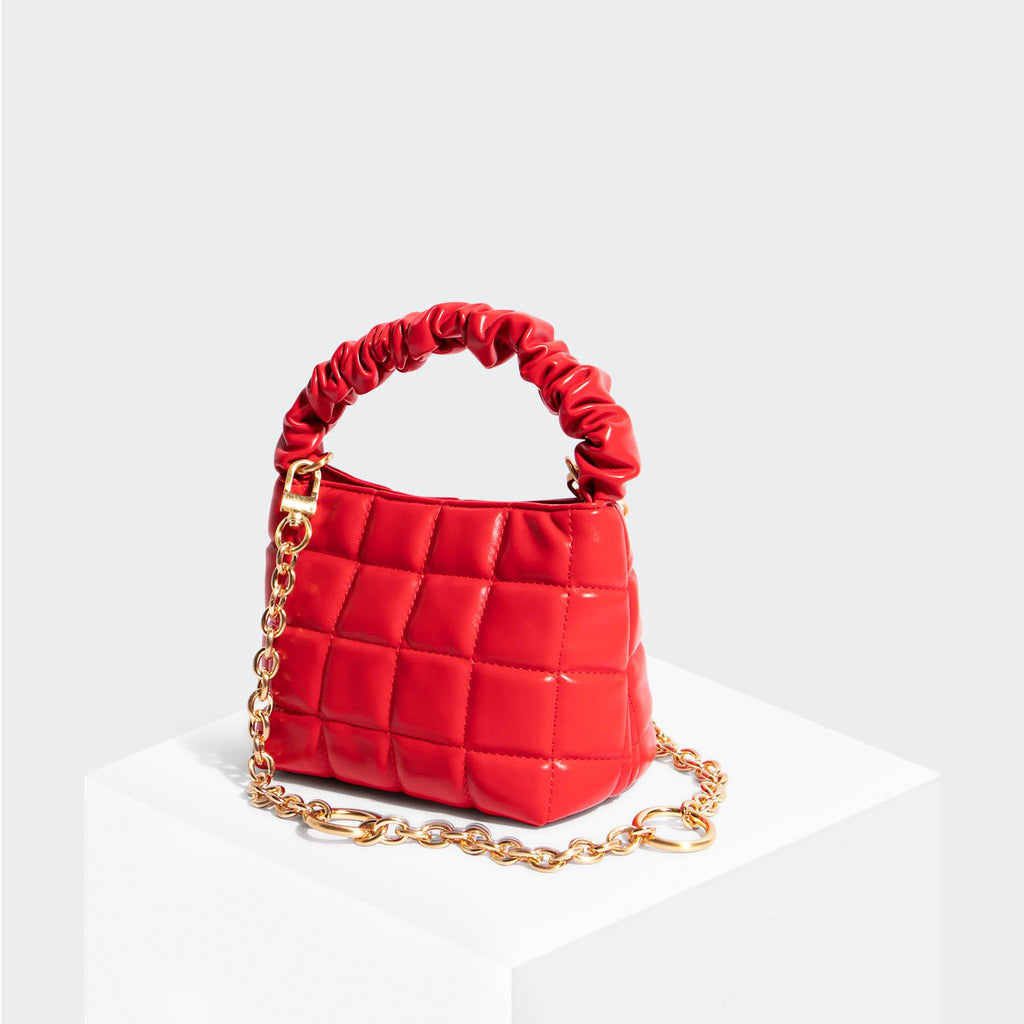 House Of Want HOW WE BRUNCH Mini Tote Red - front