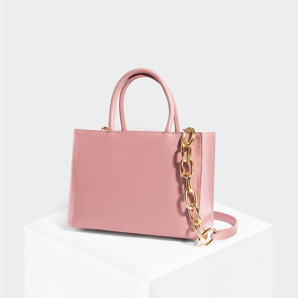 House Of Want HOW WE GRAM Small Tote Pink - front