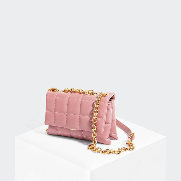 House Of Want HOW WE SLAY Small Shoulder Bag Pink - front