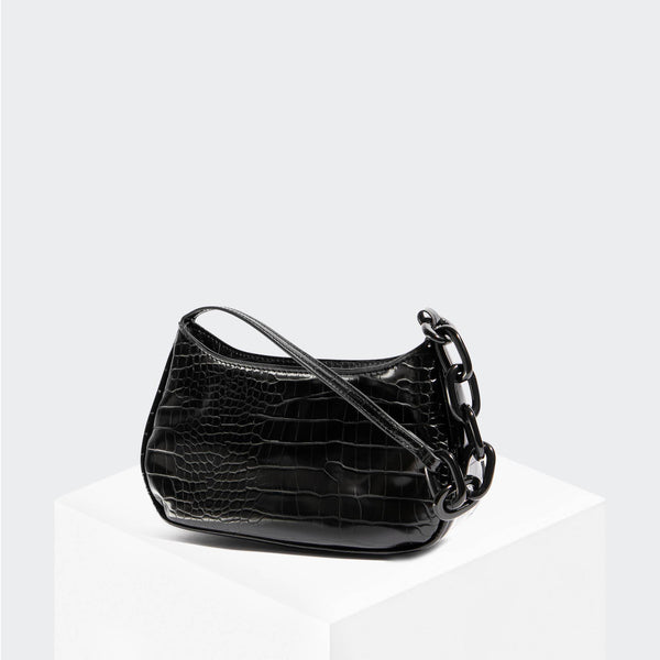 House Of Want NEWBIE Baguette Black Croco - front
