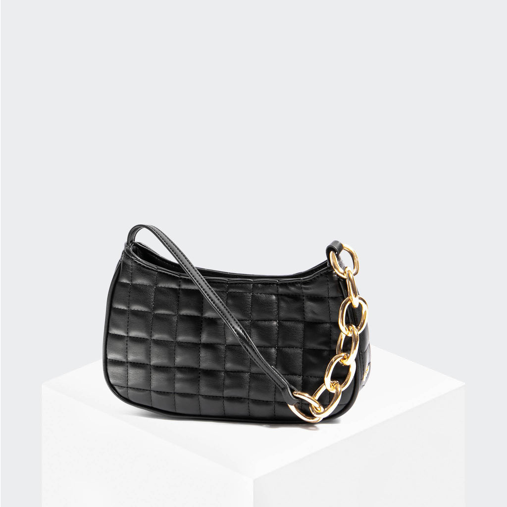 House Of Want NEWBIE Baguette Black Quilted - front