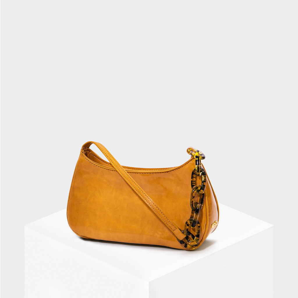 "HOUSE OF WANT ""Newbie"" Baguette Golden Yellow - front"