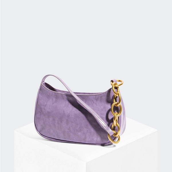 "House Of Want ""Newbie"" Baguette Lavender Glazed Calf - front"