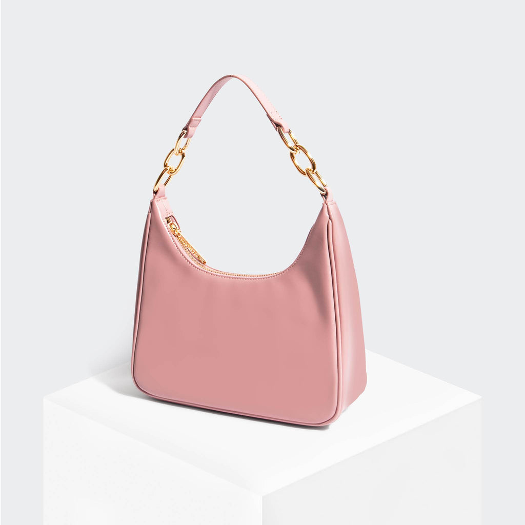 House Of Want NEWBIE Hobo Pink - front