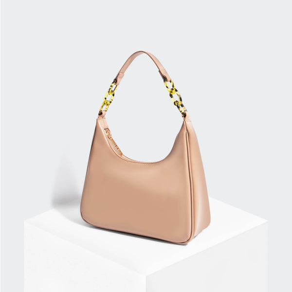 House Of Want NEWBIE Hobo Taupe - front