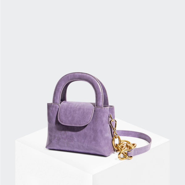 "House Of Want ""Snack"" Mini Top Handle Crossbody Lavender Glazed Calf - front"