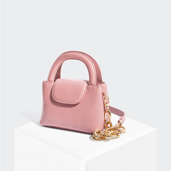 House Of Want SNACK Mini Top Handle Crossbody Pink - front
