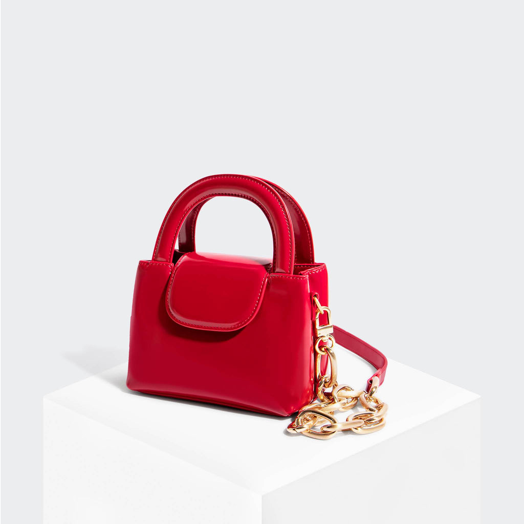 House Of Want SNACK Mini Top Handle Crossbody Red - front