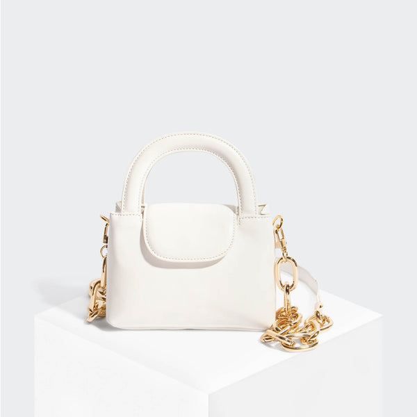 House Of Want SNACK Mini Top Handle Crossbody White - front