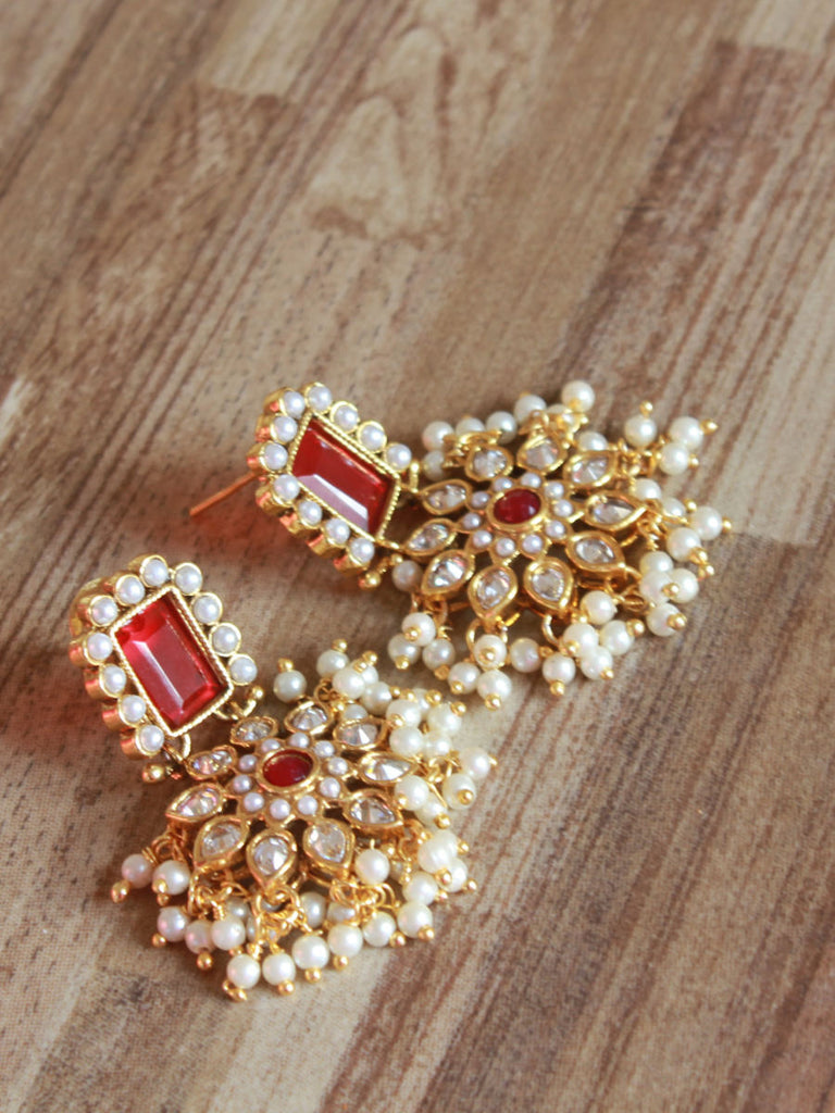 pearl mhs lot item in earrings work baroque from elegant women fancy drop court european rhinestone sun earring color jewelry gold