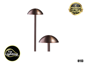 Lumien LED Area Light Low Voltage Rounded Shade Outdoor (PA-SM-AB-30K) +(PA-SPC-AB-CAP)