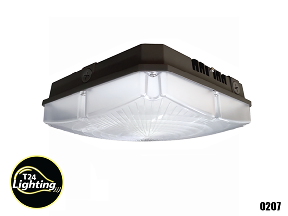 LED Square Canopy Down Light 40Watt 5000LM 5000K..