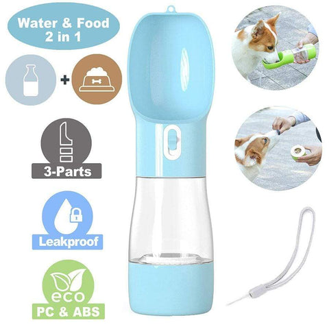 2 layer water food dog portable