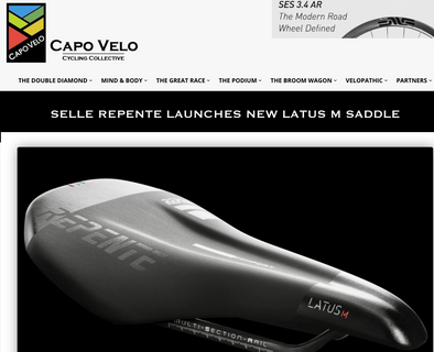 Selle Repente launches new Latus M saddle