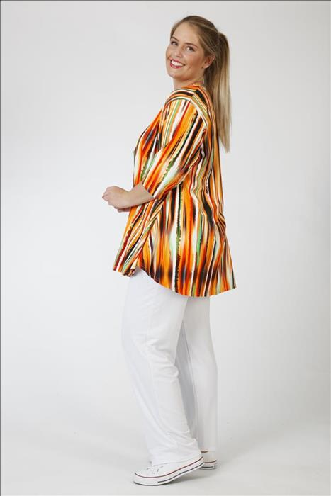 AKH-Fashion Shirt gelb bunt gestreift Gr. 42 44 46 48 50