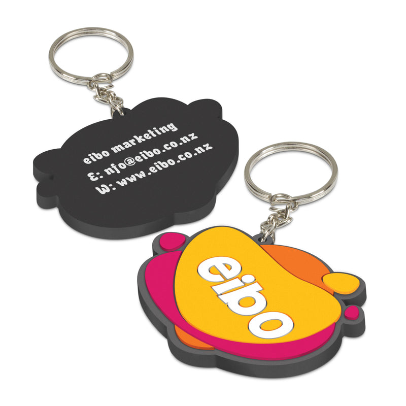 agogo PVC Key Ring Small - One Side Moulded