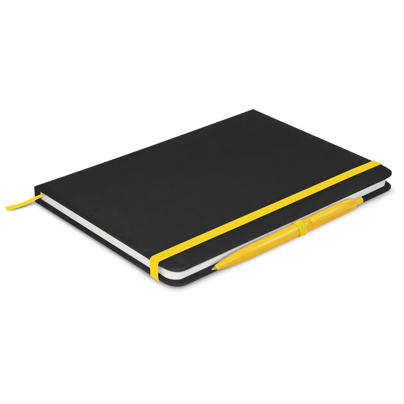 agogo Omega Black Notebook with Pen