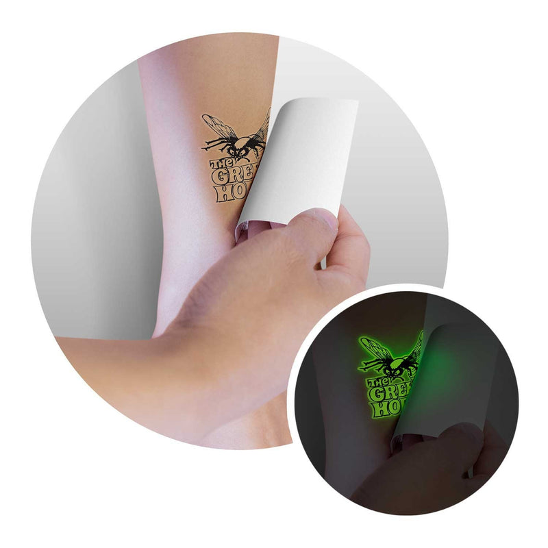 agogo Temporary Tattoo Glow in the Dark - 51mm x 51mm