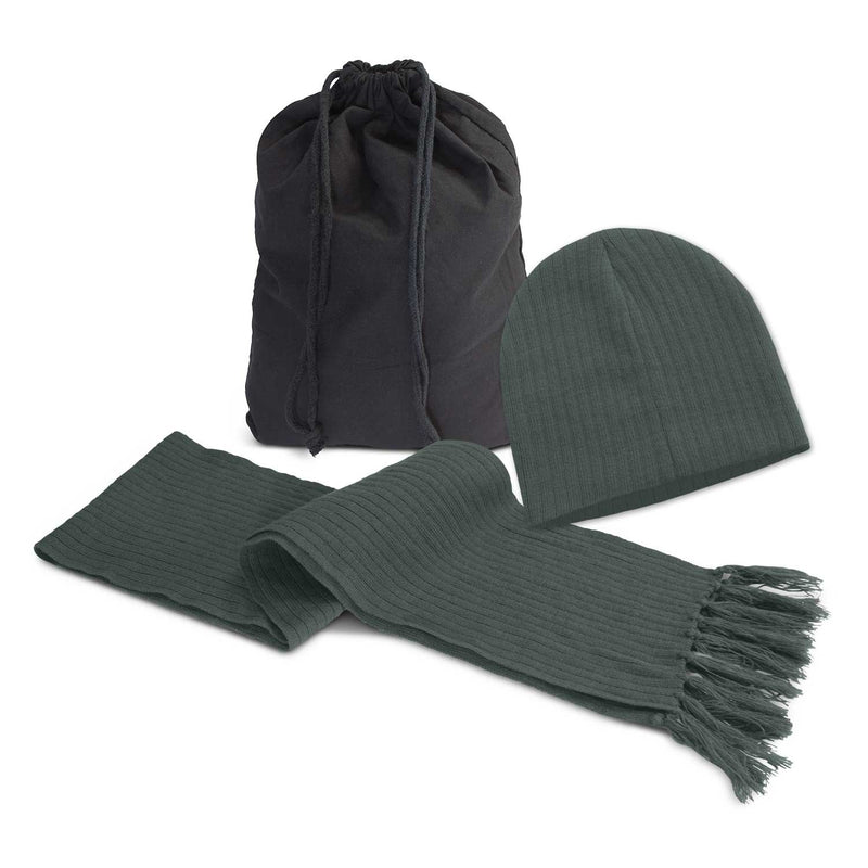 agogo Nebraska Scarf and Beanie Set