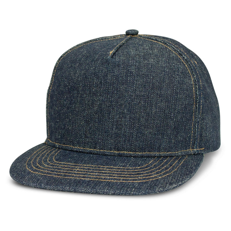 agogo Denim Flat Peak Cap