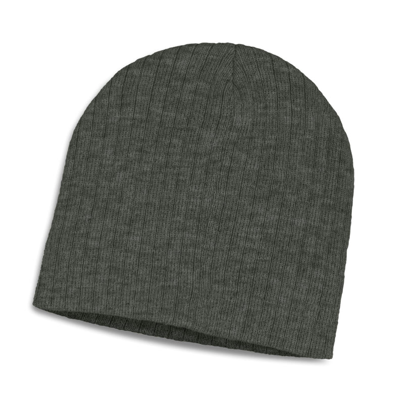 agogo Nebraska Heather Cable Knit Beanie