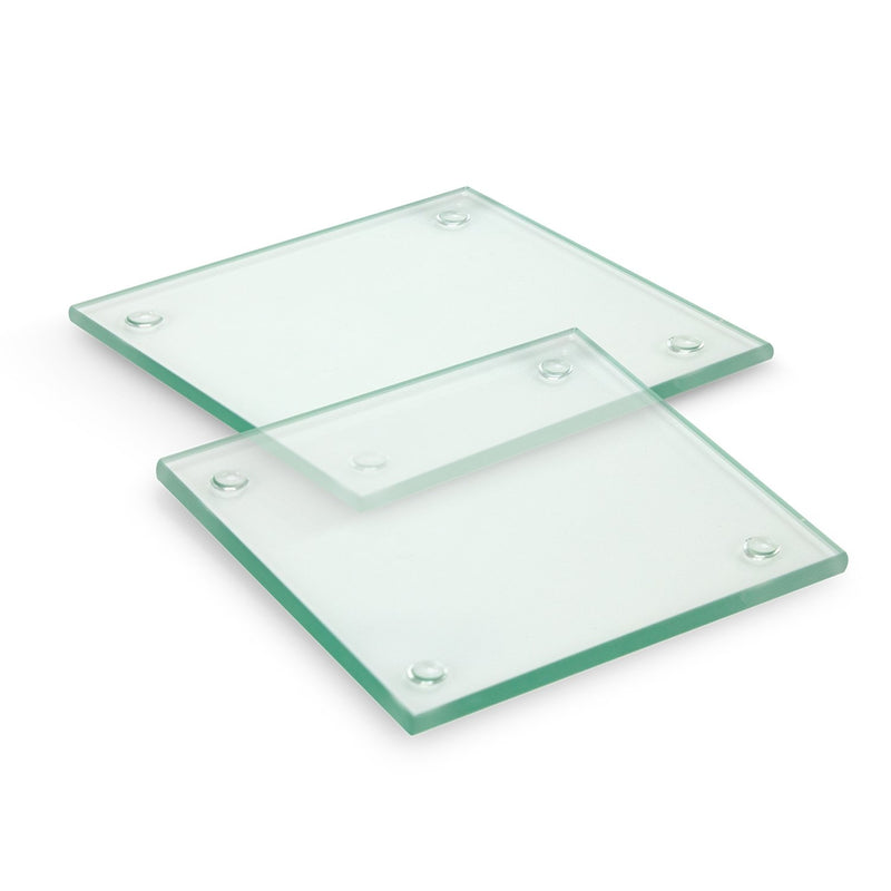 agogo Venice Glass Coaster Set of 2 - Square