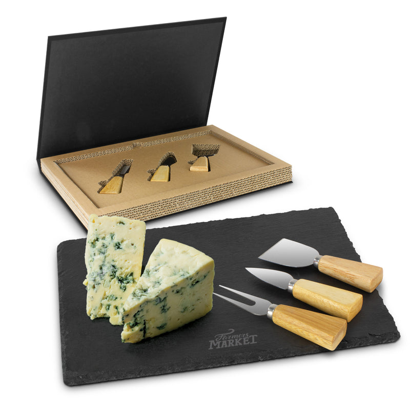 agogo Montrose Slate Cheese Board Set