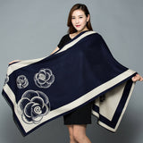 Peacock New Shawl Women's Thickening Warm Pashmina Cashmere Scarf  Oversize Soft scarf Shawl Multipurpose Blanket