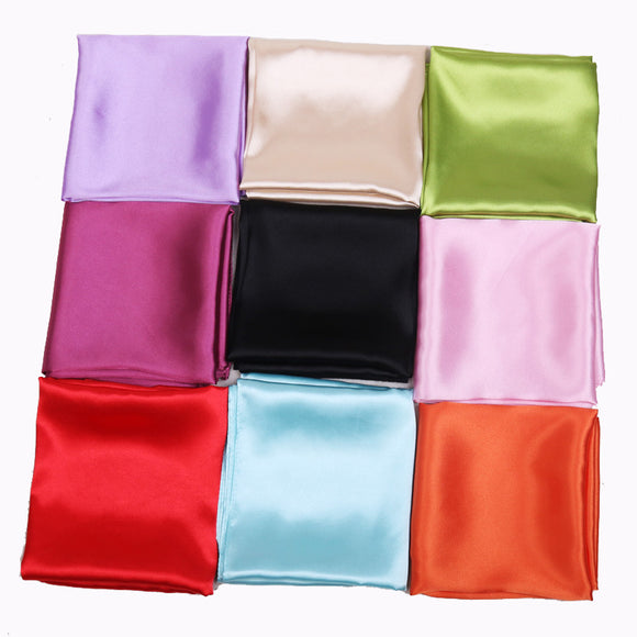 Peacock 60cm Candy Colors Women Silk Scarf Fashion Silk Shawl Head Covering Ladies Professional Small Squares New Design Silk Scaves