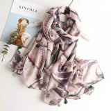 Peacock Fashion Summer Scarf For Women Scarf For Lady Viscose Shawl Tropical Print Scarf Head Luxury Brand Beach Scarves Hijab