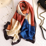 Peacock women scarf summer silk scarves shawls lady wraps soft pashimina female Echarpe