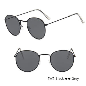 Peacock Classic Small Frame Round Sunglasses Women/Men Brand Designer Alloy Mirror Sun Glasses Vintage Modis Oculos