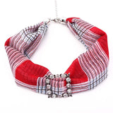 Peacock Multi-style Decorative Jewelry Necklace Resin Beads Pendant Scarf Women Foulard Femme Head Scarves Hijab Scarfs