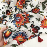 Peacock Ethnic scarf  women head scarf mori girls autumn winter Japanese style fresh sweet long print scarf cape shawl