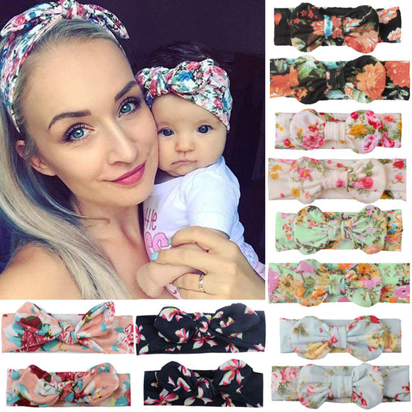 Peacock Headwear Bowknot Elastic HeadBands For Women Children Tuban Baby HairBands Hair Accessories